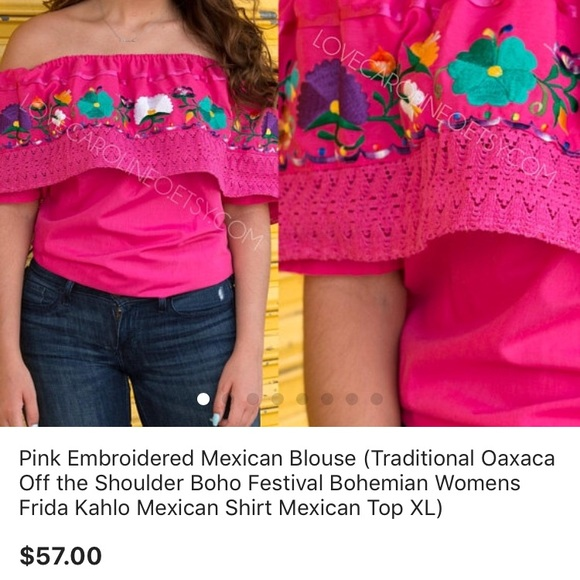 Tops Black Mexican Blouse Off The Shoulder Poshmark